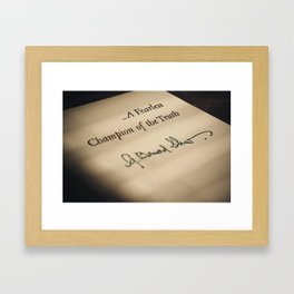 A Fearless Champion of the Truth Framed Art Print