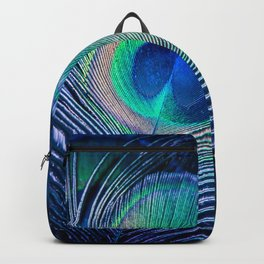 Peacock Feather Blush Backpack