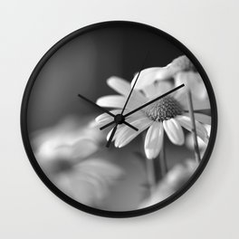 Daisys in black and white Wall Clock