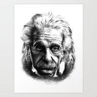 einstein Art Prints featuring Einstein by Jaume Tenes