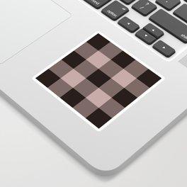dark dusty rose pattern Sticker