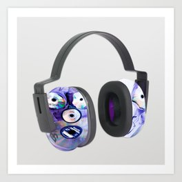 Different Sized Discs II Protection Earmuffs Art Print