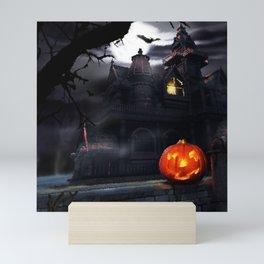 Halloween Night Pumpkin Mini Art Print