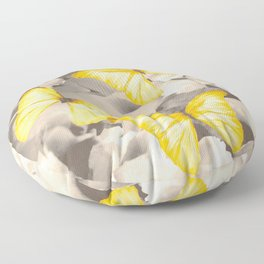Yellow Butterflies on Dark Floral Background #decor #society6 #buyart Floor Pillow