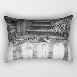 Black and White Housecat Rectangular Pillow