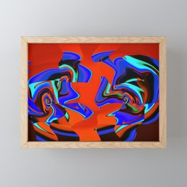 Robotic Rivals Framed Mini Art Print