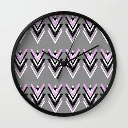 Geometric V Pattern Wall Clock