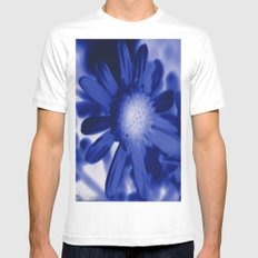 Petals Blue Mens Fitted Tee White SMALL