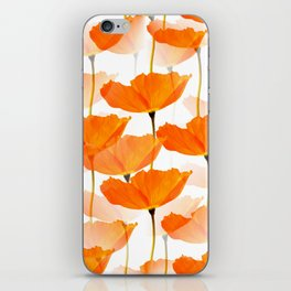 Orange Poppies On A White Background #decor #society6 #buyart iPhone Skin