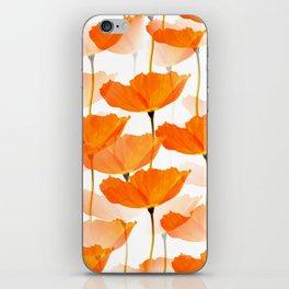 Orange Poppies On A White Background #decor #society6 #buyart iPhone Skin