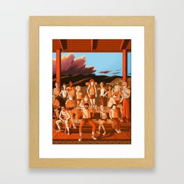 Camp Redblood Summer of '85 Crew Framed Art Print