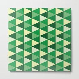 Green Hexagon Metal Print