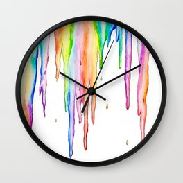 Colorful Icicles Wall Clock