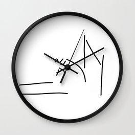 pole vault athletics Wall Clock