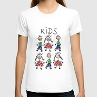 kids T-shirts featuring Kids by Digital-Art