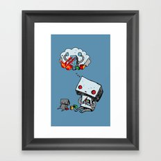 A Dream About the Future Framed Art Print