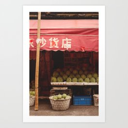 The watermelon shop Art Print