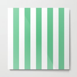 Asda Green (1999) - solid color - white vertical lines pattern Metal Print