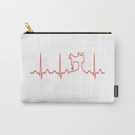 SEWING MACHINE HEARTBEAT Carry-All Pouch