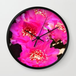 Beavertail Cactus in Bloom - III Wall Clock