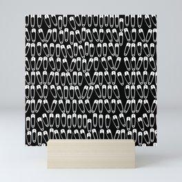 Safety Pins Pattern Mini Art Print