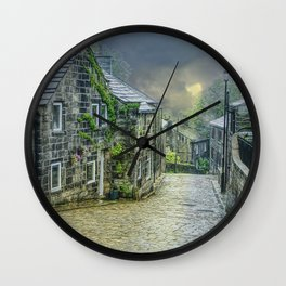 Cobbles And Clouds Wall Clock
