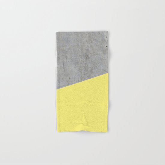 Concrete and yellow Hand & Bath Towel