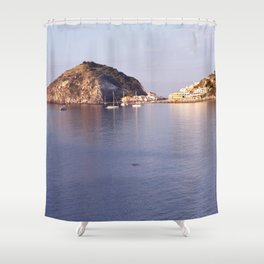 swimming to s'ant angelo Shower Curtain