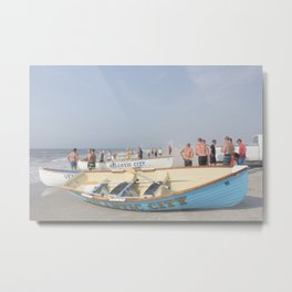 Atlantic City Lifeboats Metal Print