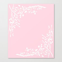 Floral Frame Pink Canvas Print