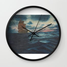 Sailing Boat- in oil Wall Clock