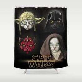 Cat wars 4 Two Shower Curtain