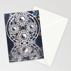 Yin Yang Symmetry Balance Reflection Stationery Cards