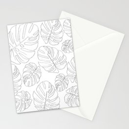 monsteria leaves Stationery Cards