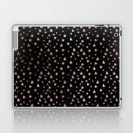 Black & Rose Gold Star Pattern Laptop & iPad Skin