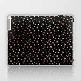 Black & Rose Gold Star Pattern Laptop & iPad Skin