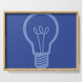 BlueLight Bulb Serving Tray