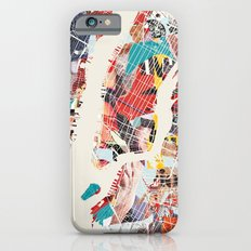 New York Map collage magazine Slim Case iPhone 6s