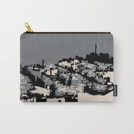 Telegraph Hill Print Black and Grey Carry-All Pouch
