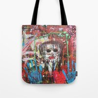 theatre Tote Bags featuring Dark Theatre by Pluto00Art / Robin Brennan