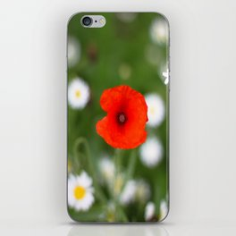 Poppy Flower iPhone Skin
