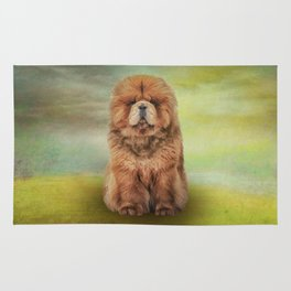 Drawing dog chow chow Rug