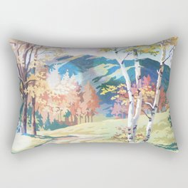 Paint by Number Road to the Mountains Rectangular Pillow