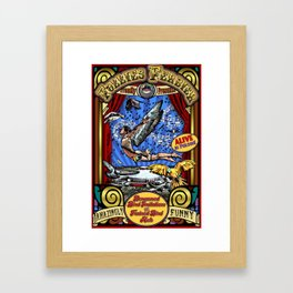 Bird Imitators & Trained Bird Acts Sideshow Poster Framed Art Print