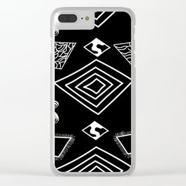 Black and White Diamonds Clear iPhone Case