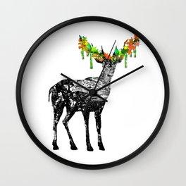 Fallow deer Wall Clock