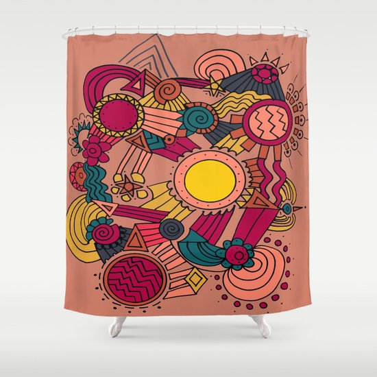 The Earthly Environment Shower Curtain