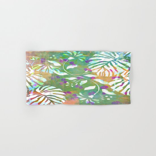Tropical Leaf Abstract Hand & Bath Towel