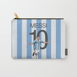 Lionel Messi Argentina 10 Print Carry-All Pouch
