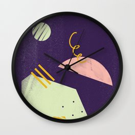 time for purple Wall Clock